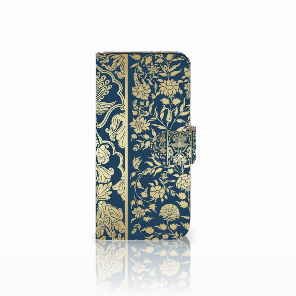 HTC One Mini 2 Uniek Boekhoesje Golden Flowers