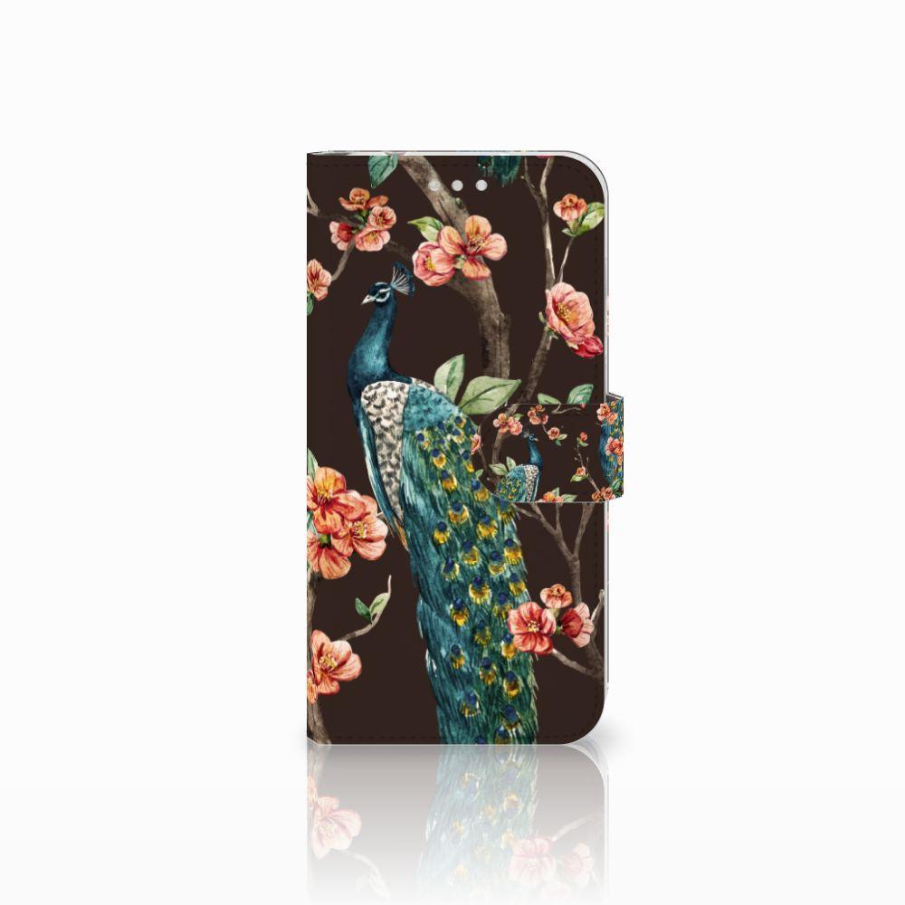 Huawei P20 Pro Boekhoesje Design Pauw met Bloemen