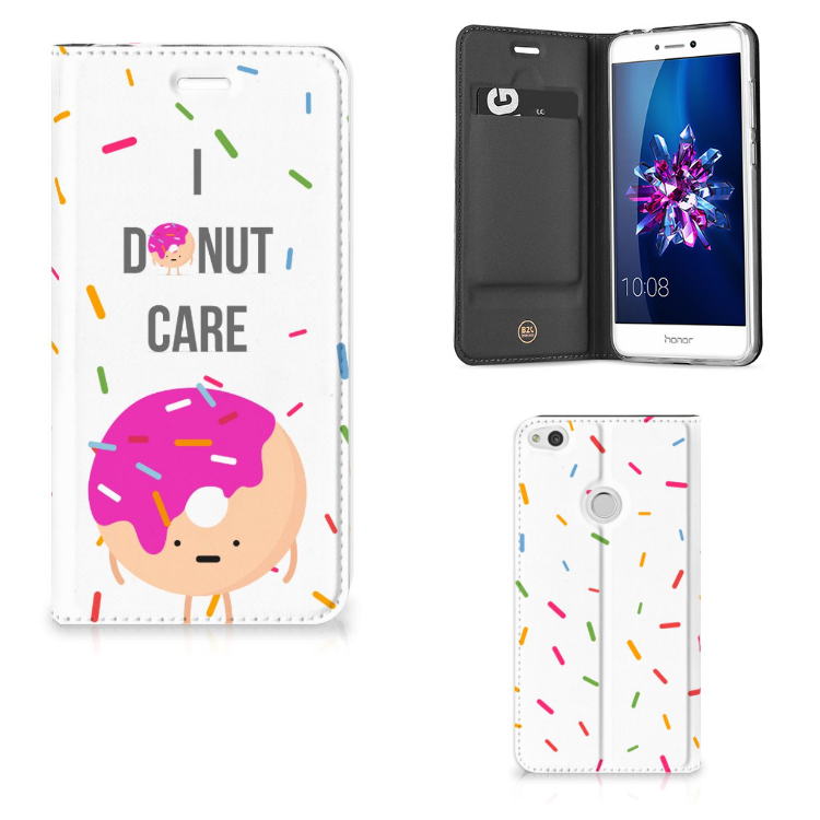 Huawei P8 Lite 2017 Flip Style Cover Donut Roze