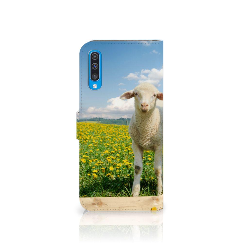 Samsung Galaxy A50 Telefoonhoesje met Pasjes Schaap en Lammetje