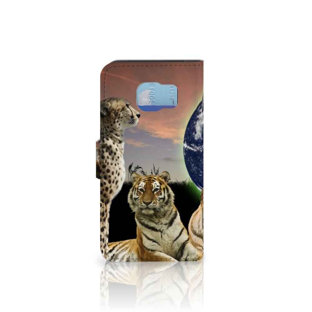 Samsung Galaxy S6 | S6 Duos Telefoonhoesje met Pasjes Roofdieren