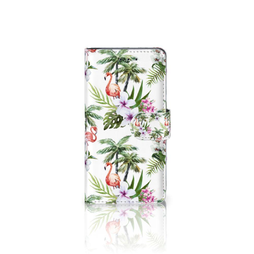 HTC U11 Telefoonhoesje met Pasjes Flamingo Palms