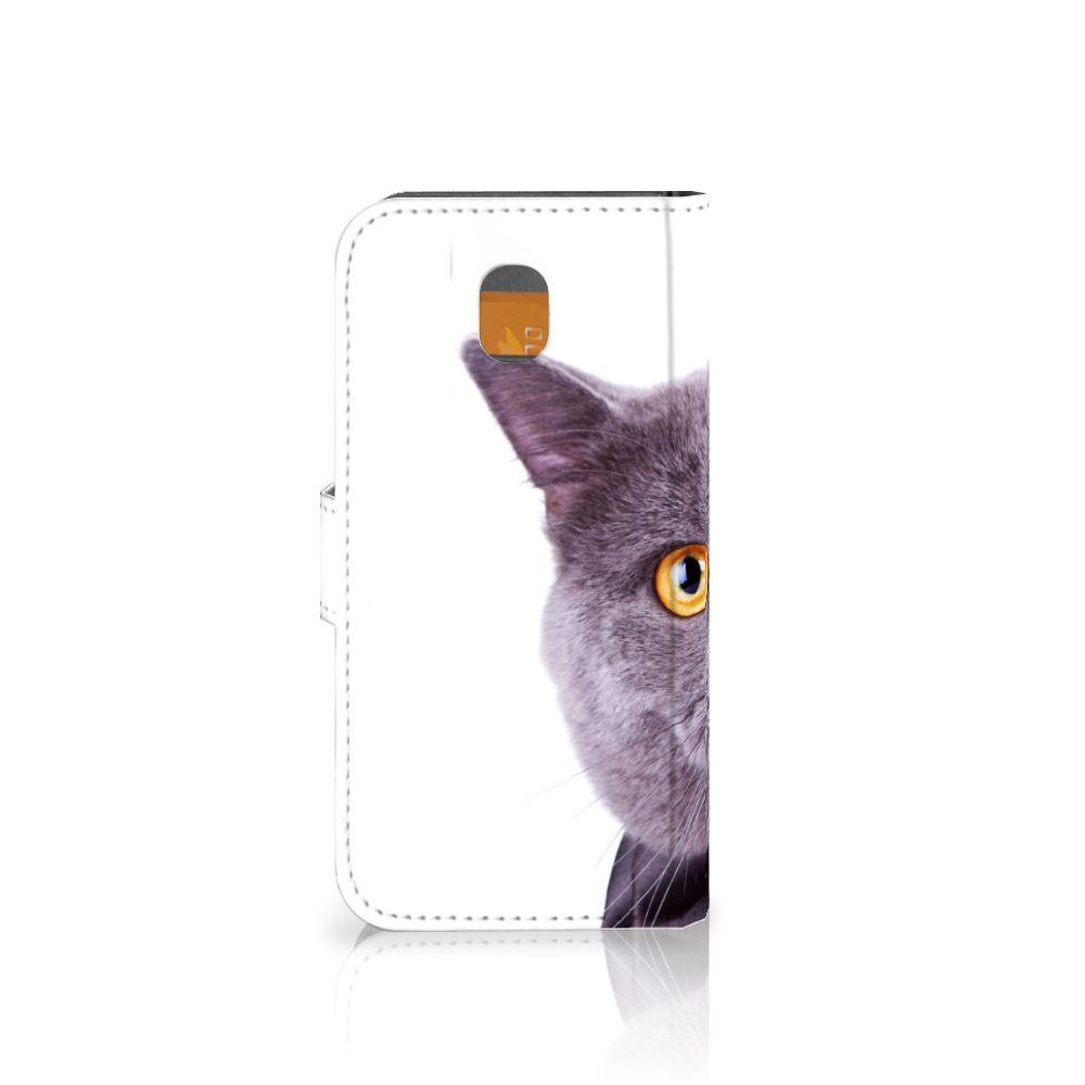 Samsung Galaxy J5 2017 Telefoonhoesje met Pasjes Kat