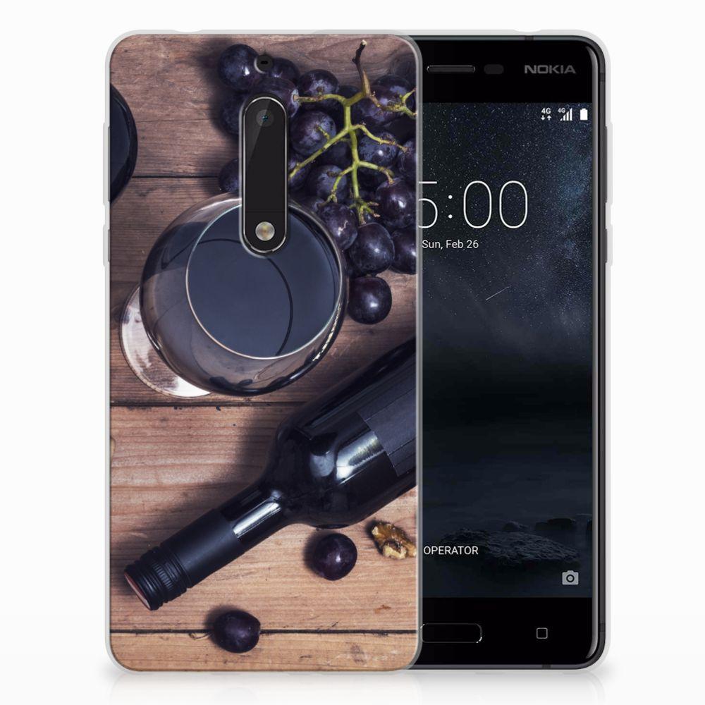 Nokia 5 Siliconen Case Wijn