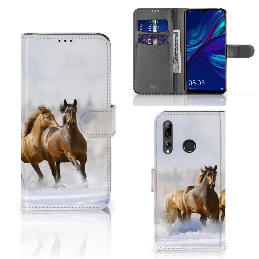 Huawei P Smart 2019 Telefoonhoesje met Pasjes Paarden