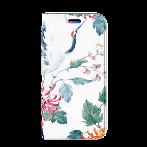 Apple iPhone X   Xs Uniek Standcase Hoesje Bird Flowers