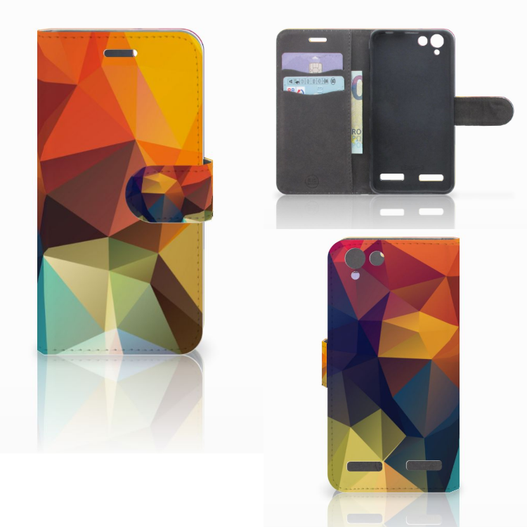 Lenovo Vibe K5 Bookcase Polygon Color