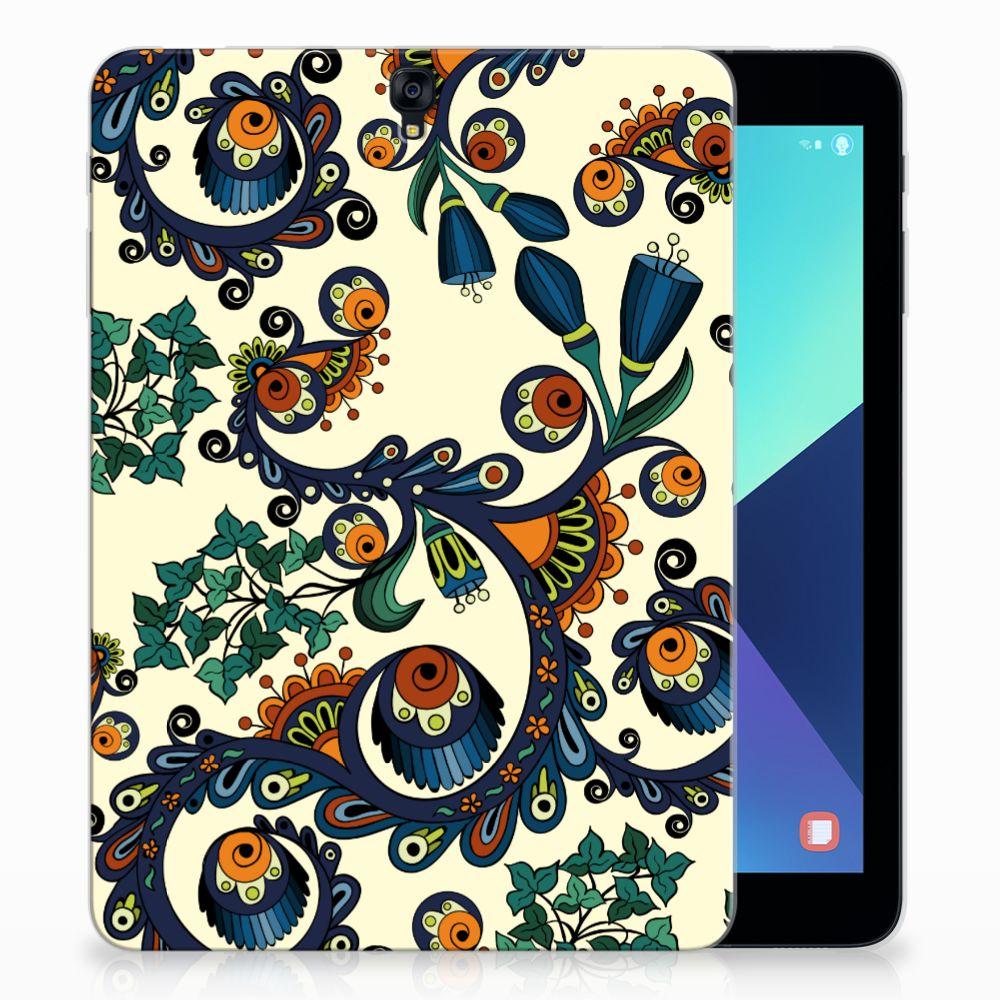 Samsung Galaxy Tab S3 9.7 Tablethoesje Design Barok Flower