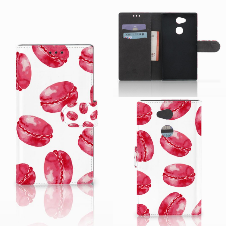 Sony Xperia L2 Book Cover Pink Macarons