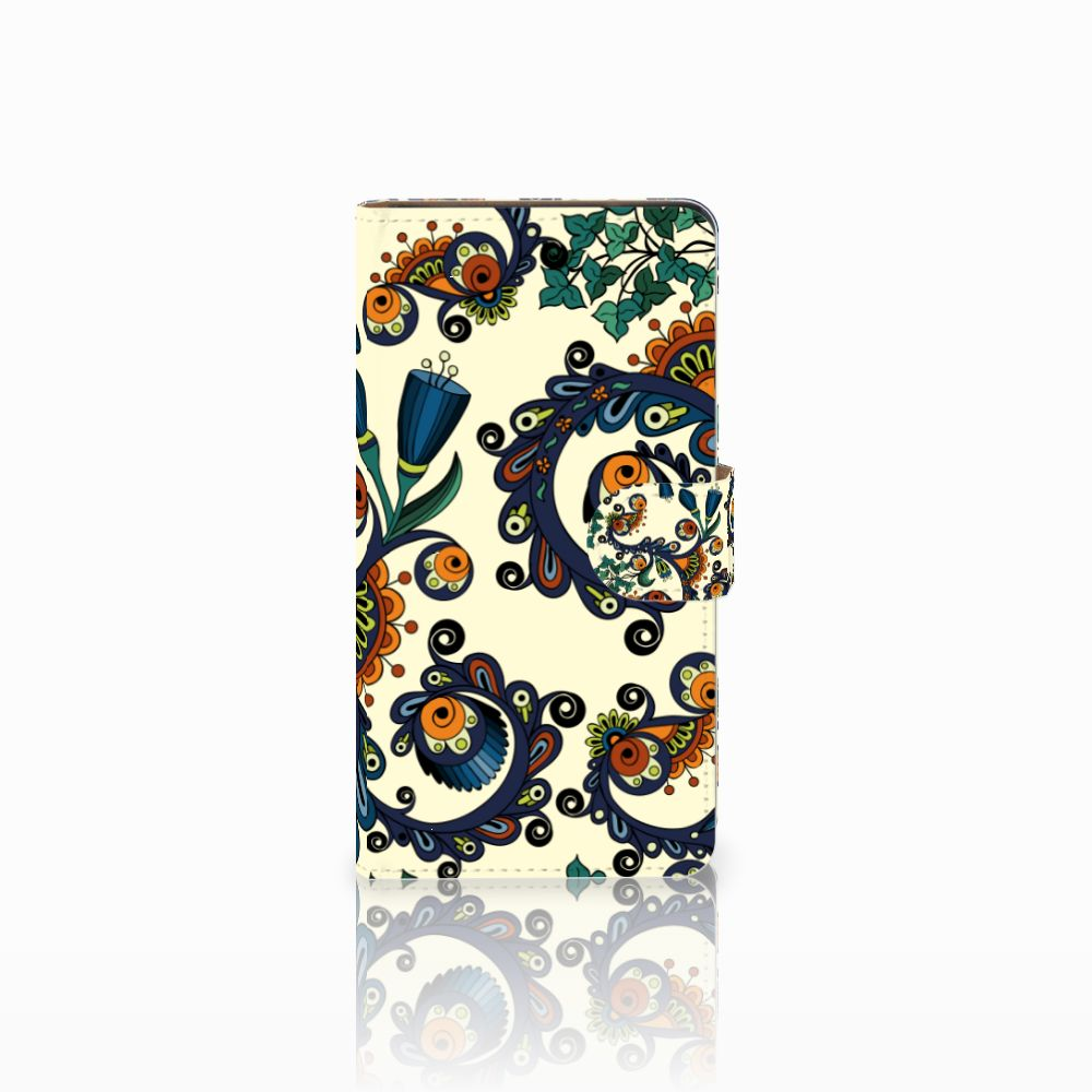 Wallet Case Huawei Ascend G700 Barok Flower