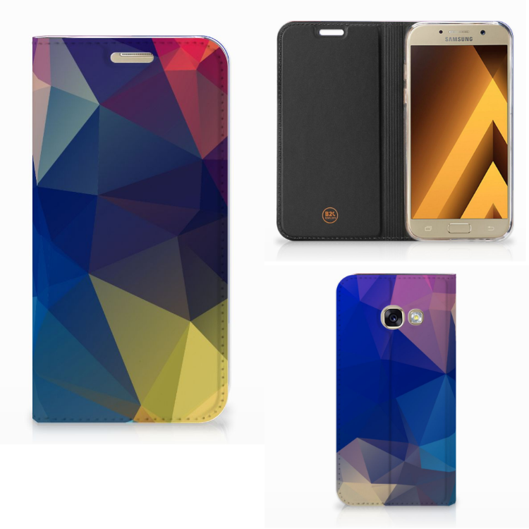Samsung Galaxy A3 2017 Stand Case Polygon Dark