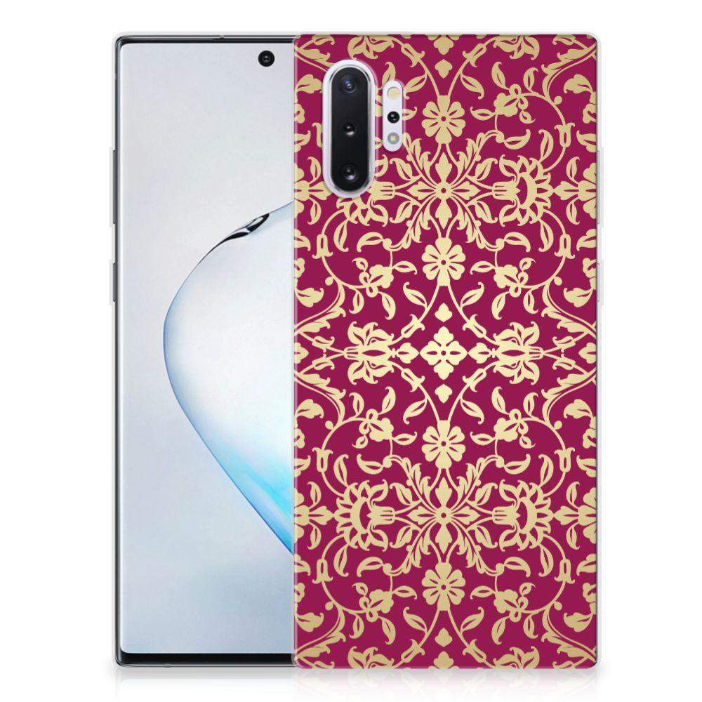 Siliconen Hoesje Samsung Galaxy Note 10 Plus Barok Pink