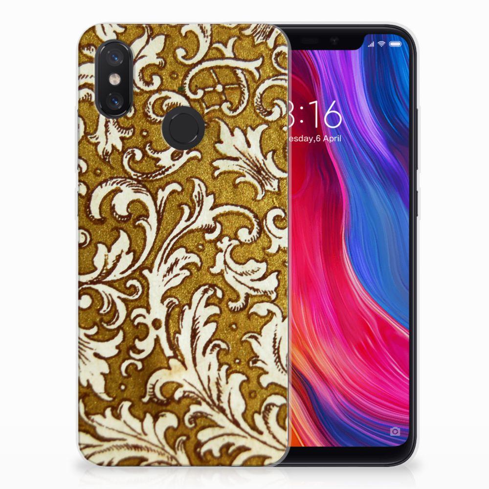 Siliconen Hoesje Xiaomi Mi 8 Barok Goud