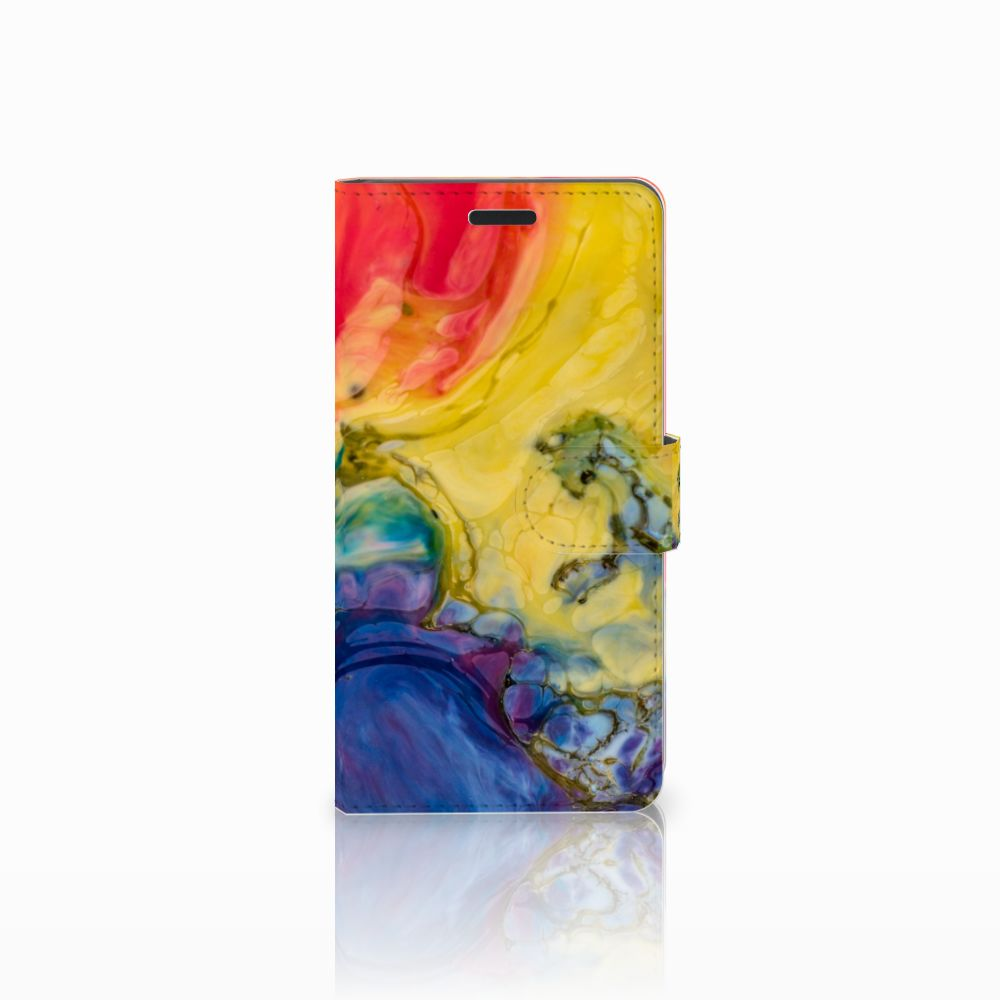 Samsung Galaxy A7 2015 Uniek Boekhoesje Watercolor Dark