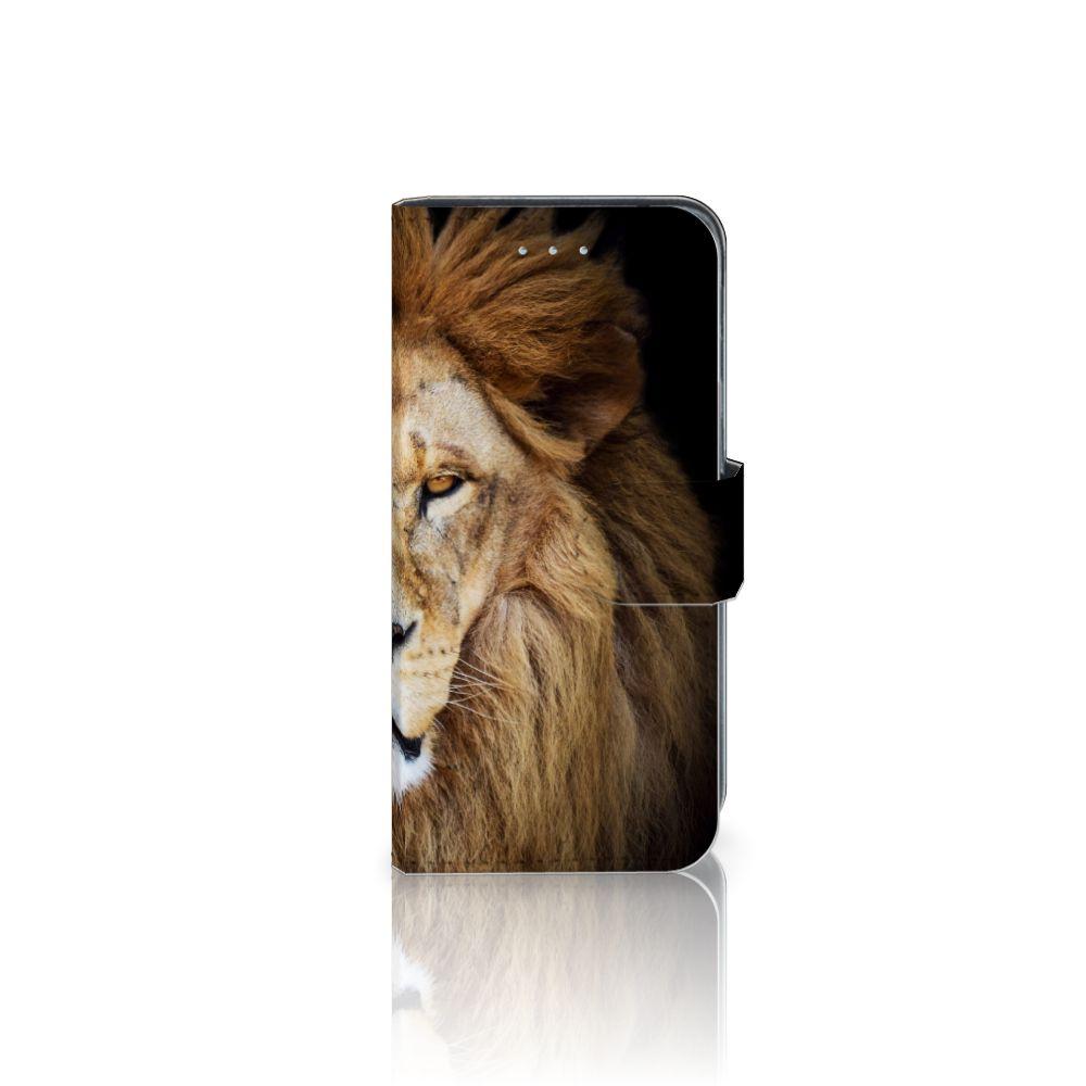 Samsung Galaxy A5 2016 Telefoonhoesje met Pasjes Leeuw