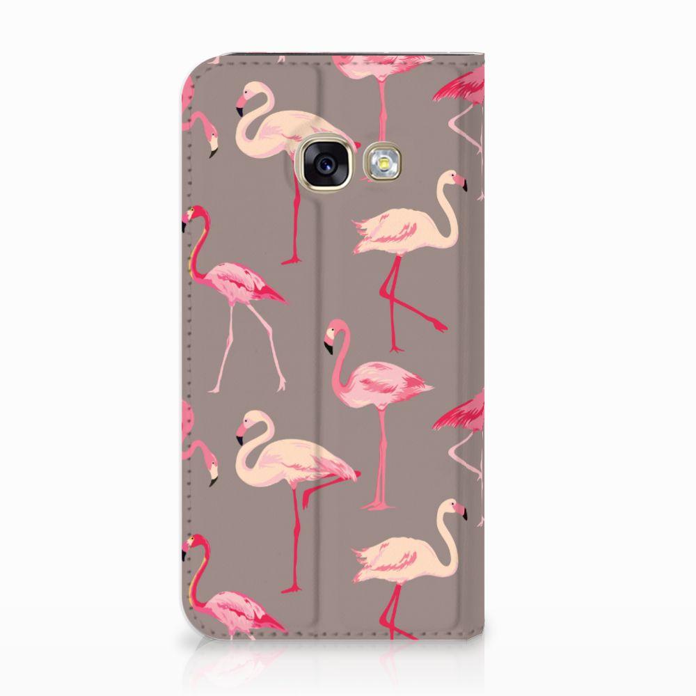 Samsung Galaxy A3 2017 Uniek Standcase Hoesje Flamingo