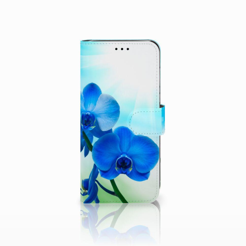 Huawei P20 Lite Boekhoesje Design Orchidee Blauw
