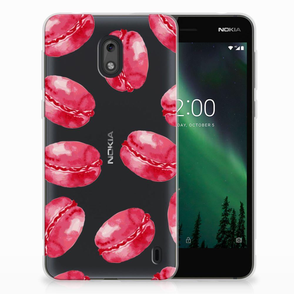 Nokia 2 Siliconen Case Pink Macarons