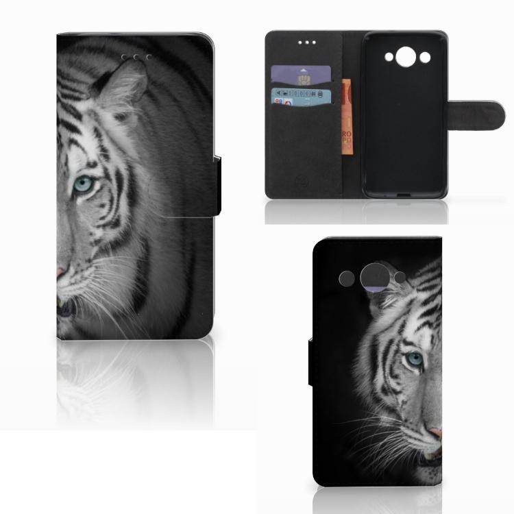 Huawei Y3 2017 Telefoonhoesje met Pasjes Tijger