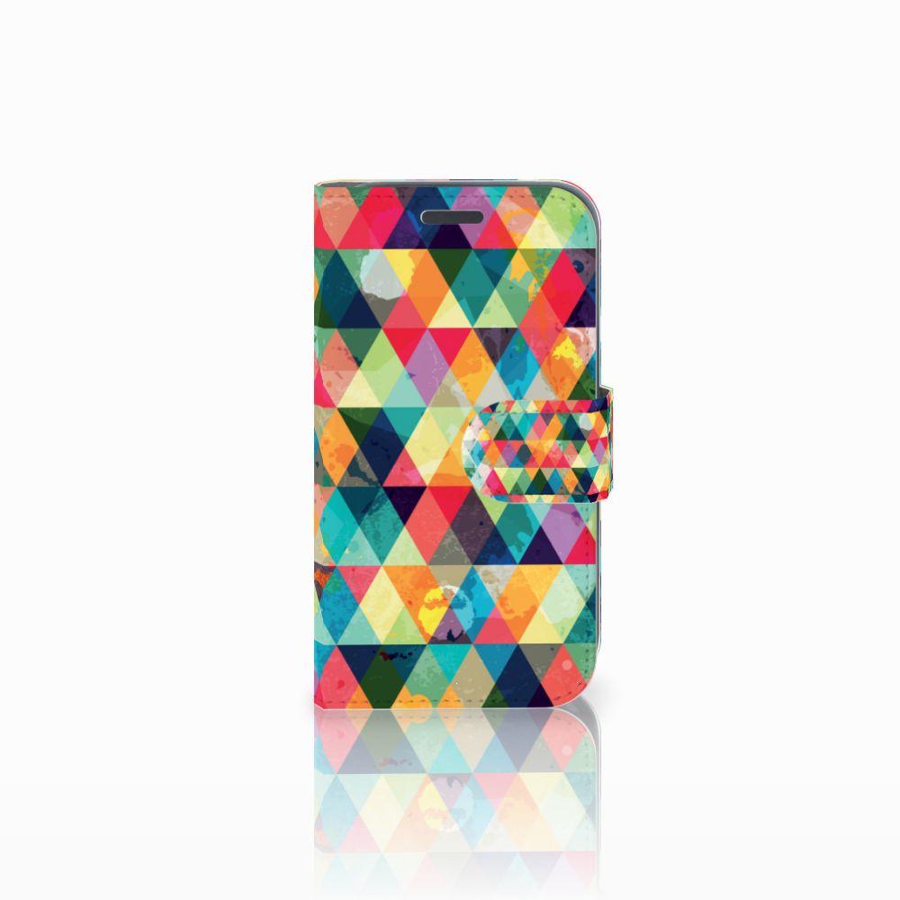 Samsung Galaxy J1 2016 Uniek Boekhoesje Geruit