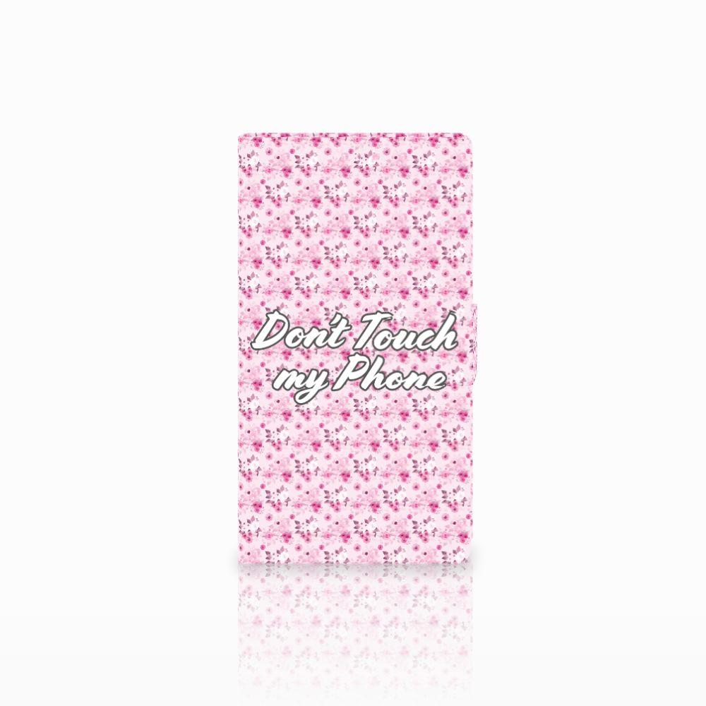 Samsung Galaxy Note 4 Uniek Boekhoesje Flowers Pink DTMP