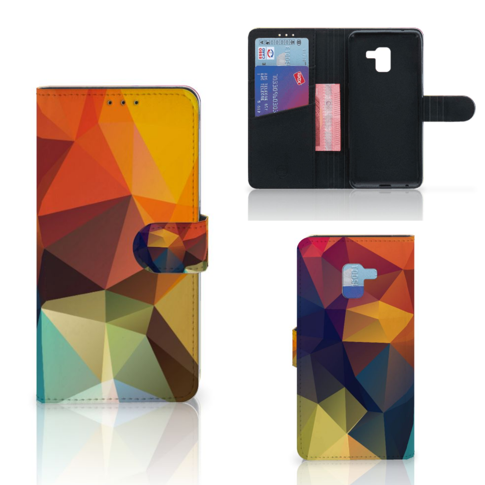 Samsung Galaxy A8 Plus (2018) Bookcase Polygon Color