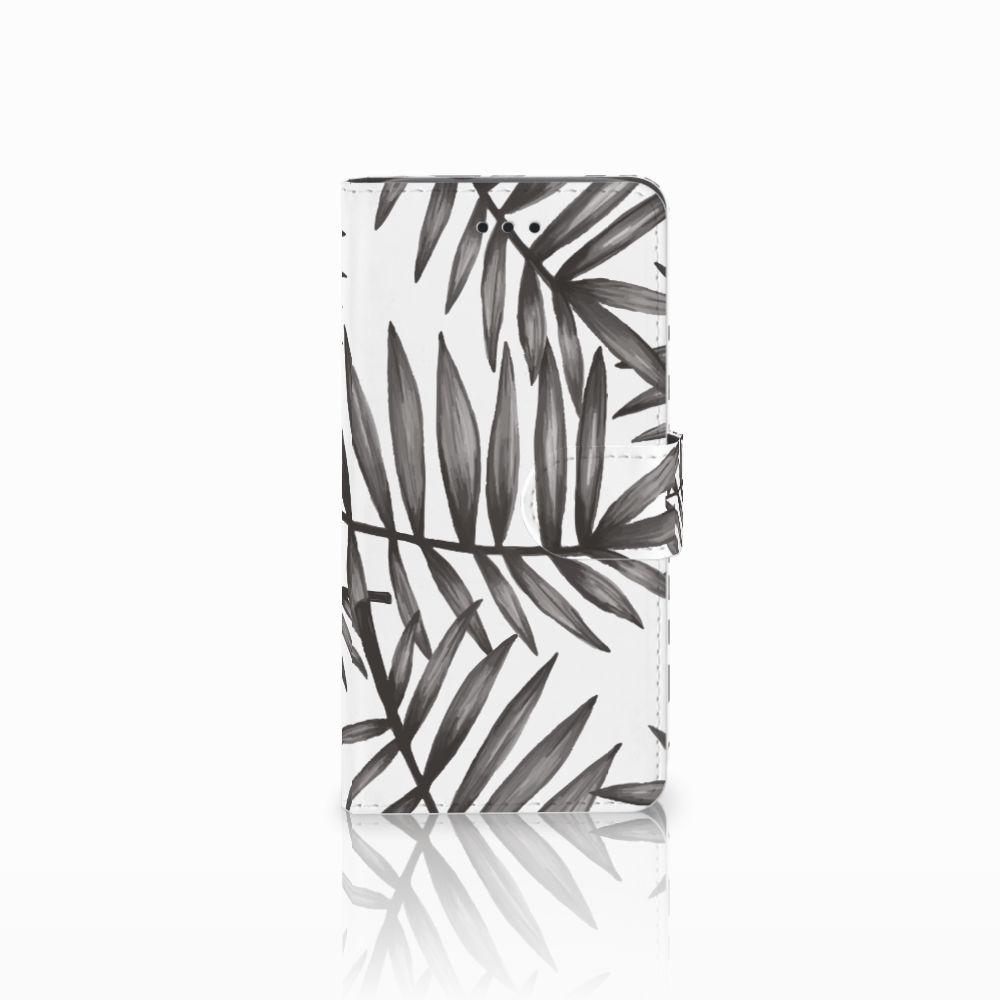 Huawei Y3 2017 Uniek Boekhoesje Leaves Grey