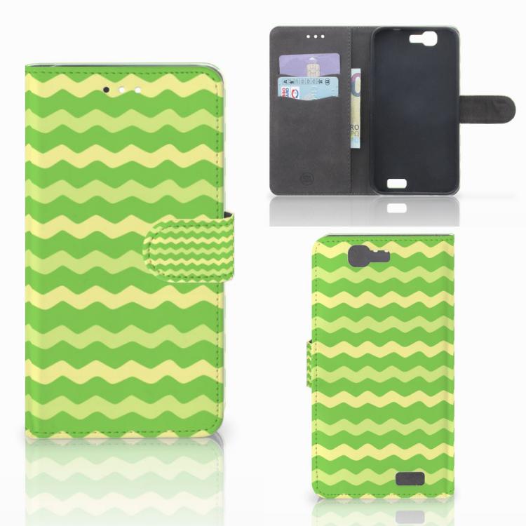 Huawei Ascend G7 Telefoon Hoesje Waves Green
