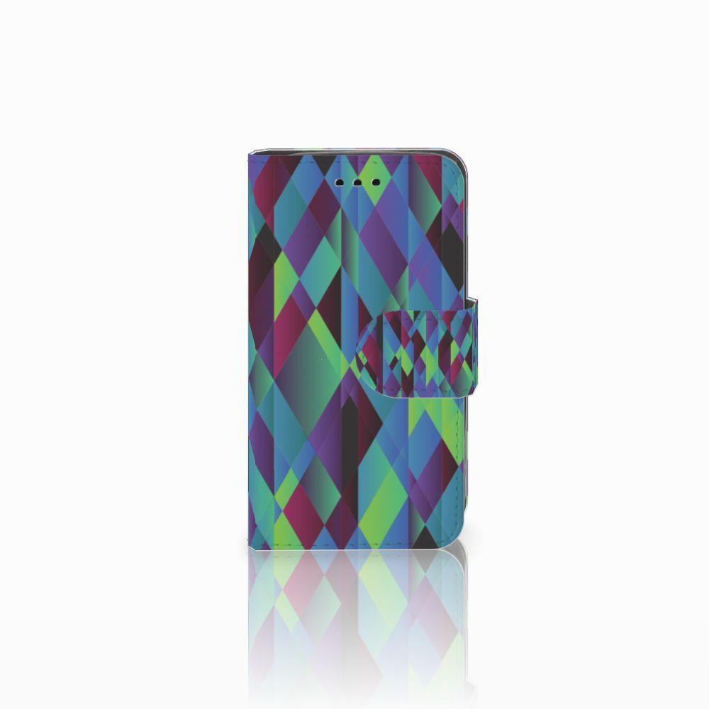 Samsung Galaxy Trend 2 Boekhoesje Design Abstract Green Blue