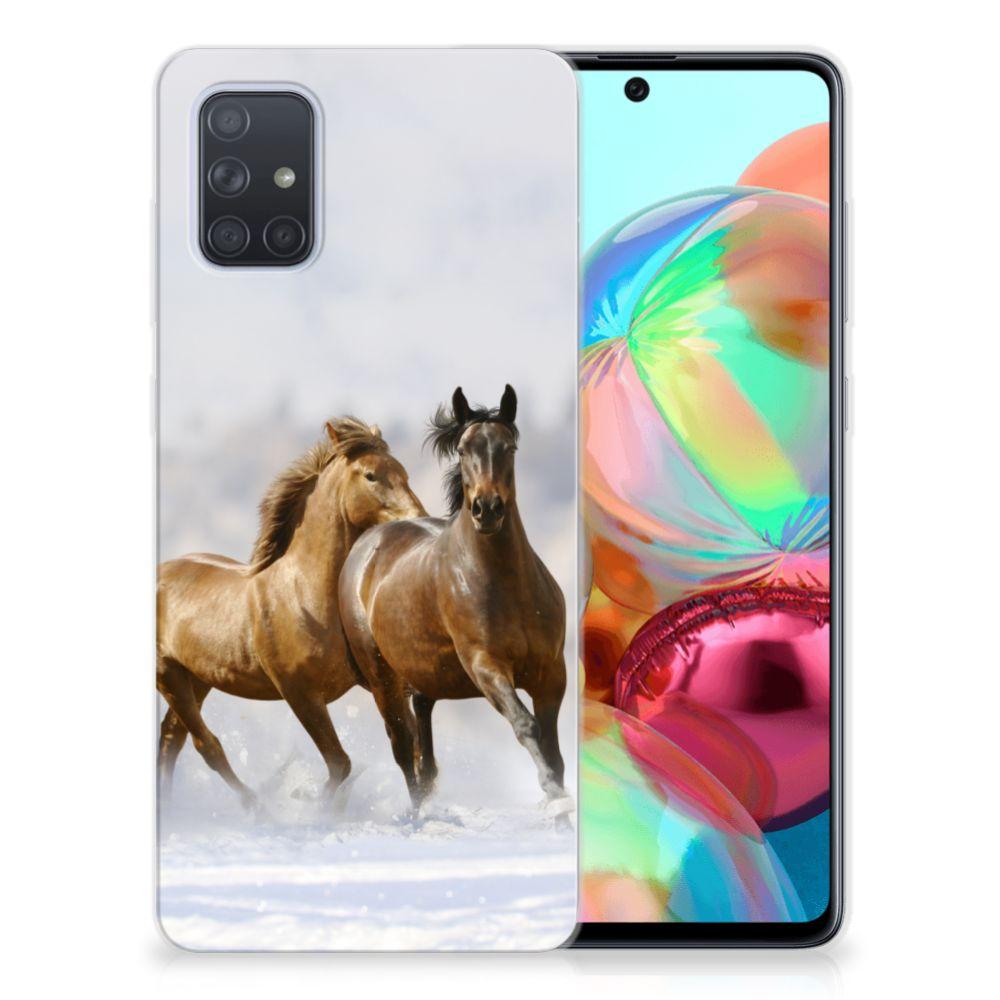 Samsung Galaxy A71 TPU Hoesje Paarden