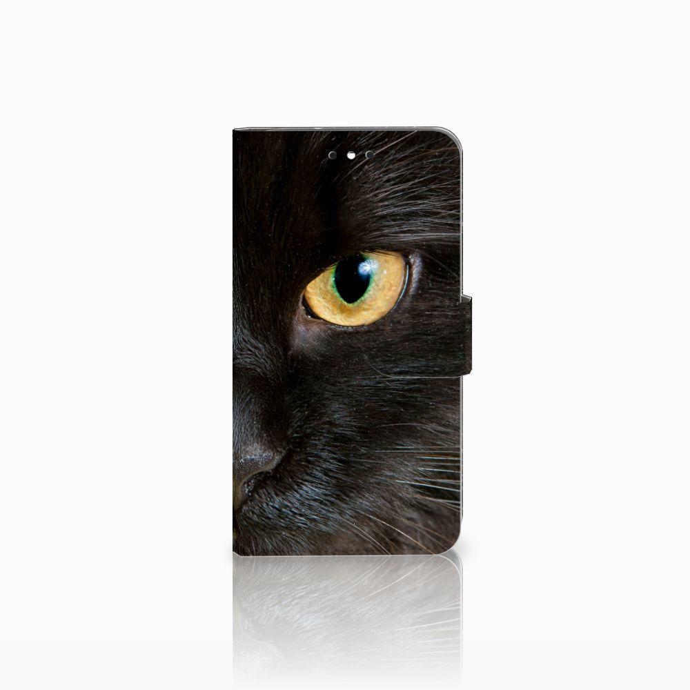 Motorola Moto G4 | G4 Plus Uniek Boekhoesje Zwarte Kat
