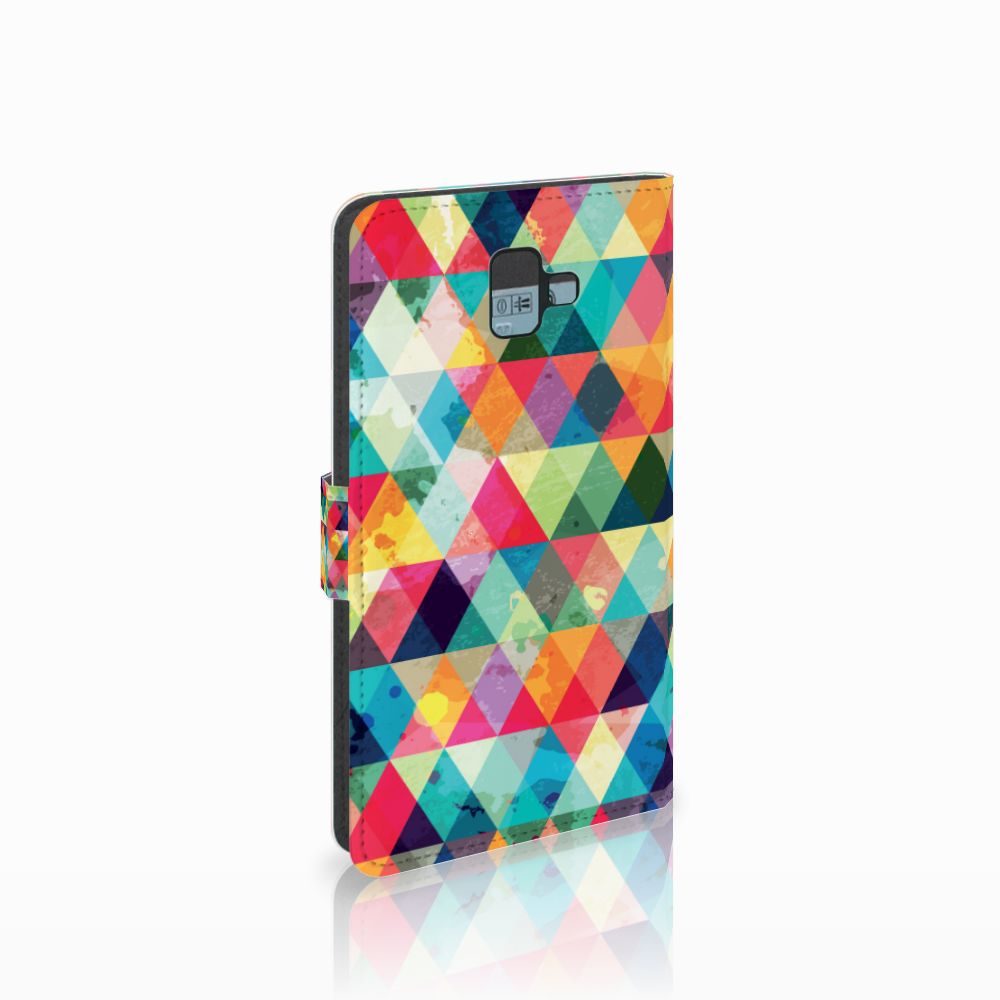 Samsung Galaxy J6 Plus (2018) Uniek Boekhoesje Geruit