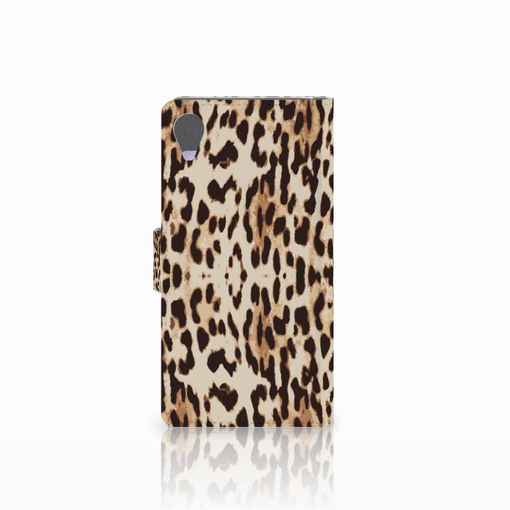 Sony Xperia X Performance Telefoonhoesje met Pasjes Leopard