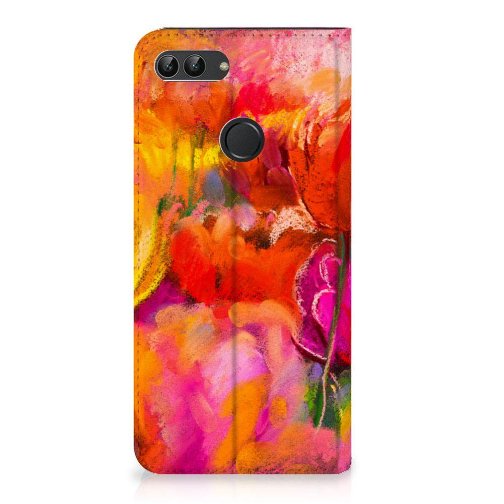 Bookcase Huawei P Smart Tulips