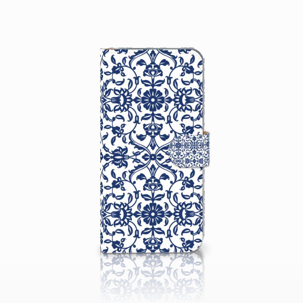 HTC Desire 10 Pro Boekhoesje Flower Blue