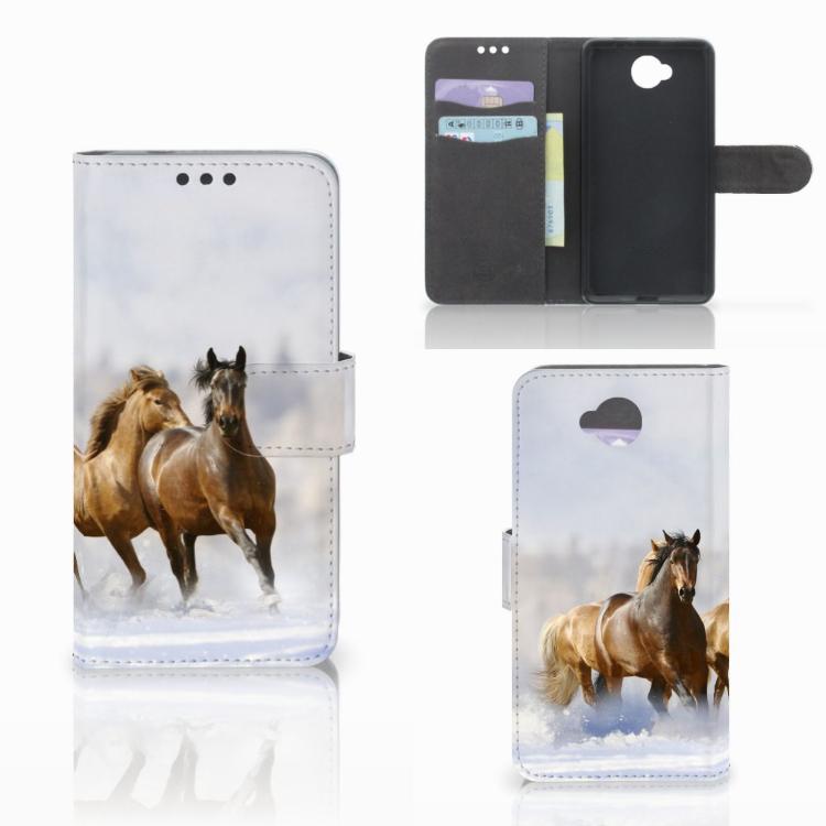 Microsoft Lumia 650 Telefoonhoesje met Pasjes Paarden