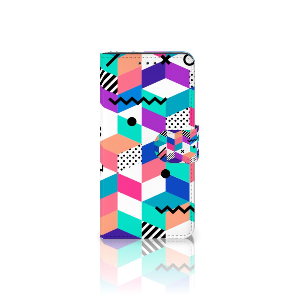 Samsung Galaxy J5 2017 Boekhoesje Design Blocks Colorful