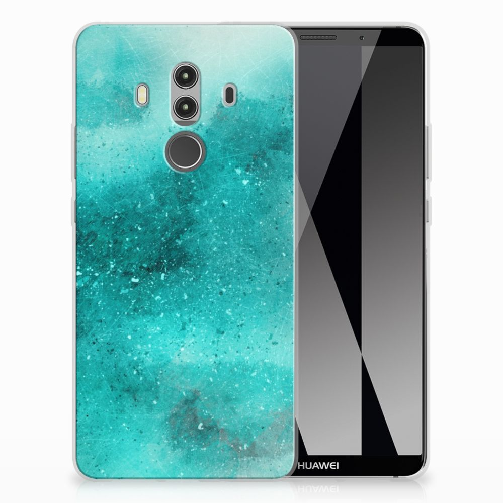 Huawei Mate 10 Pro Uniek TPU Hoesje Painting Blue