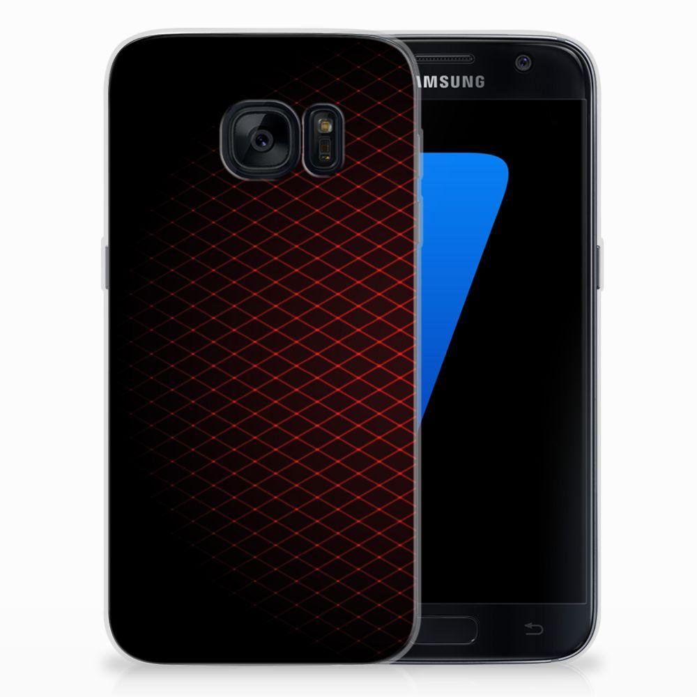 Samsung Galaxy S7 TPU bumper Geruit Rood