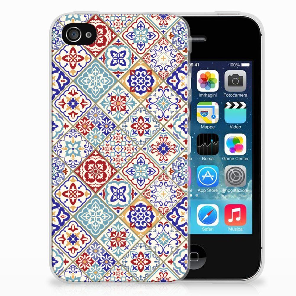 Apple iPhone 4   4s TPU Siliconen Hoesje Tiles Color