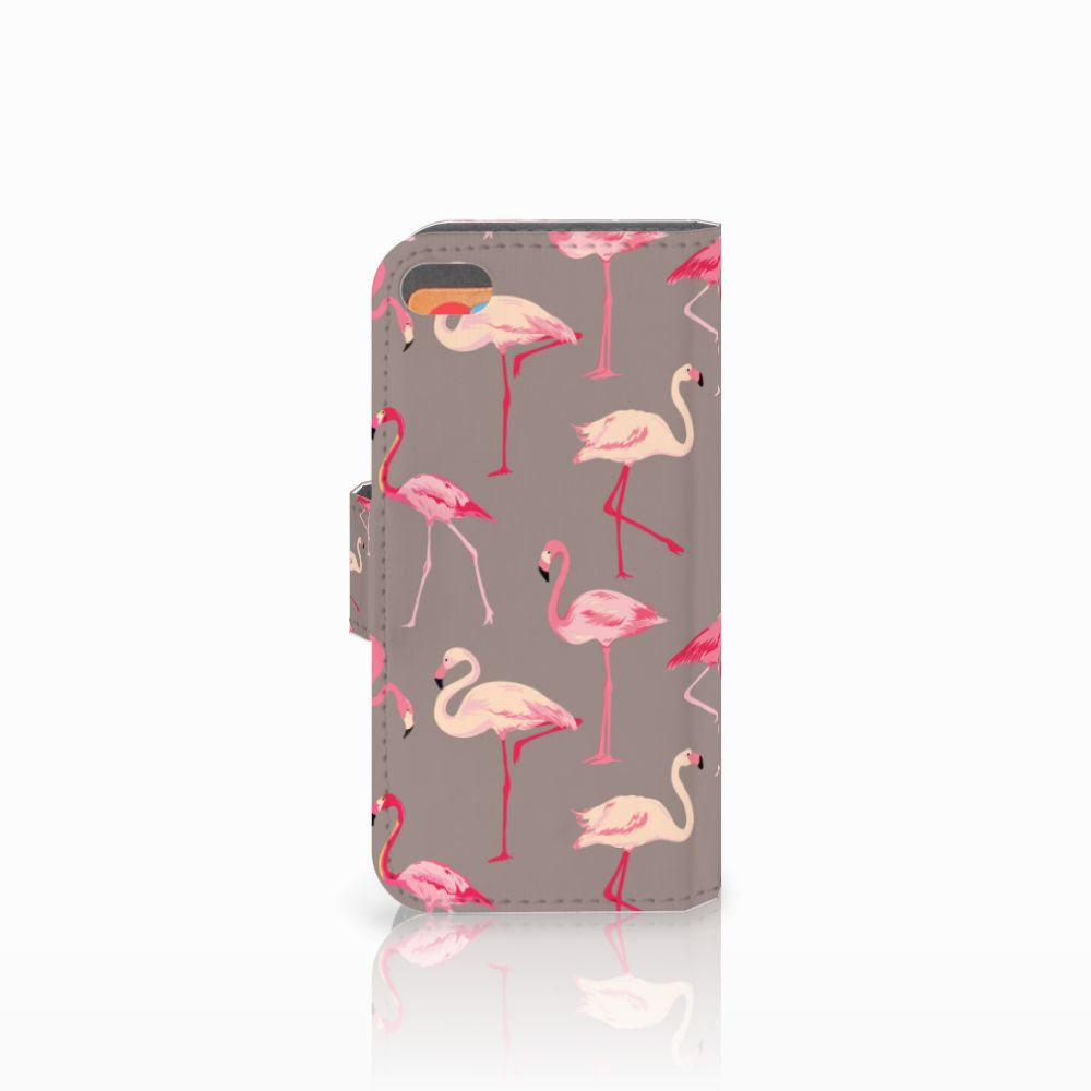 Apple iPhone 5C Telefoonhoesje met Pasjes Flamingo