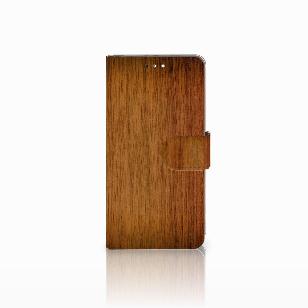Huawei Honor 9 Uniek Boekhoesje Donker Hout