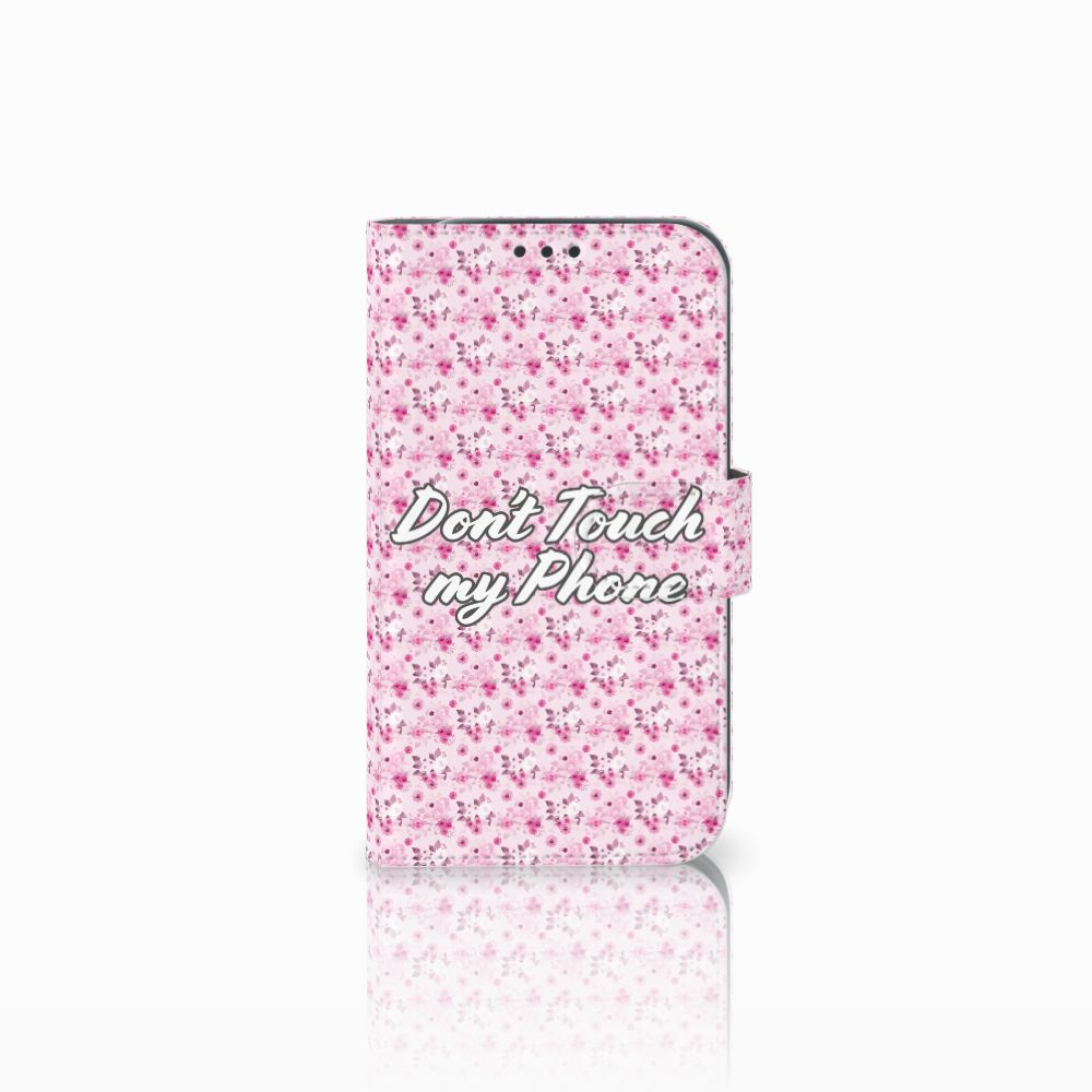 Samsung Galaxy Xcover 4 Uniek Boekhoesje Flowers Pink DTMP