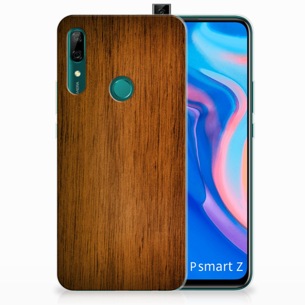 Huawei P Smart Z Bumper Hoesje Donker Hout