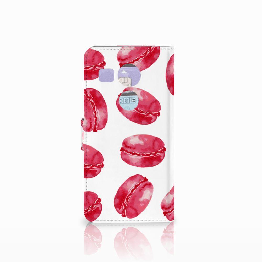 LG Nexus 5X Book Cover Pink Macarons