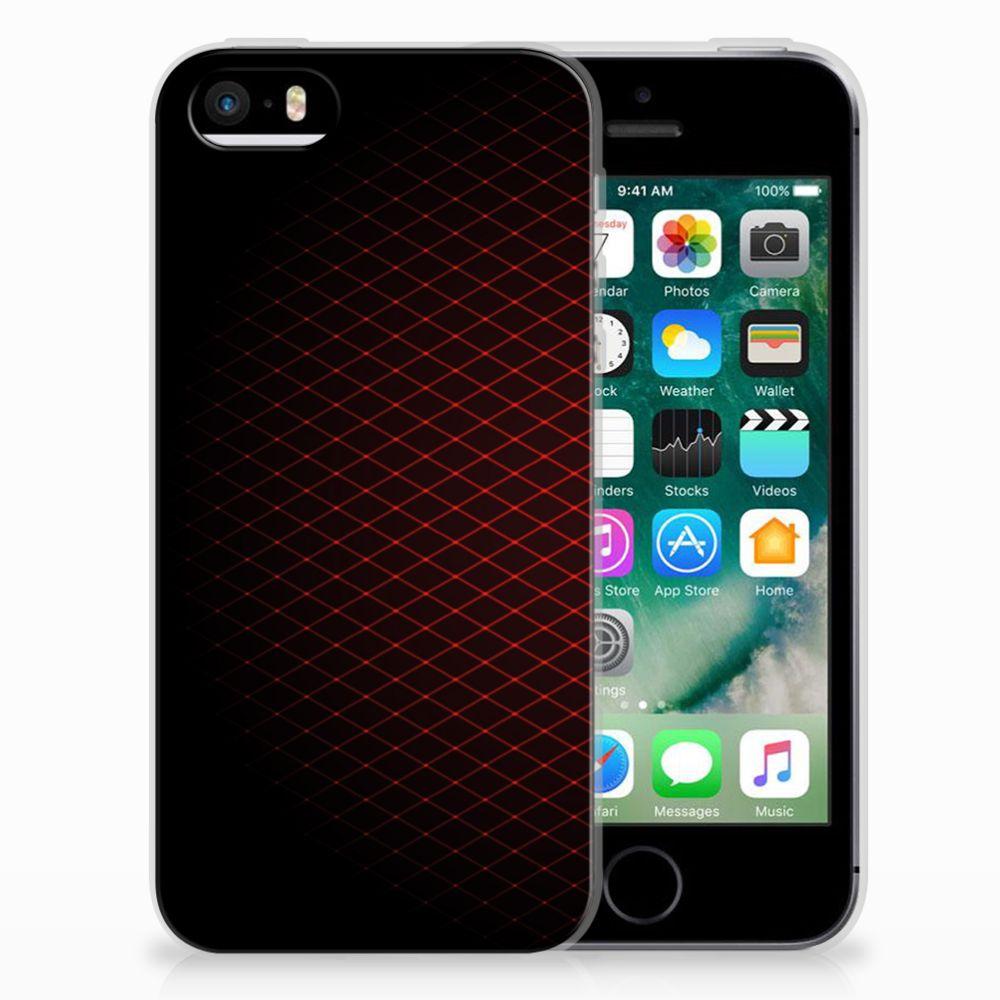 Apple iPhone SE | 5S TPU bumper Geruit Rood