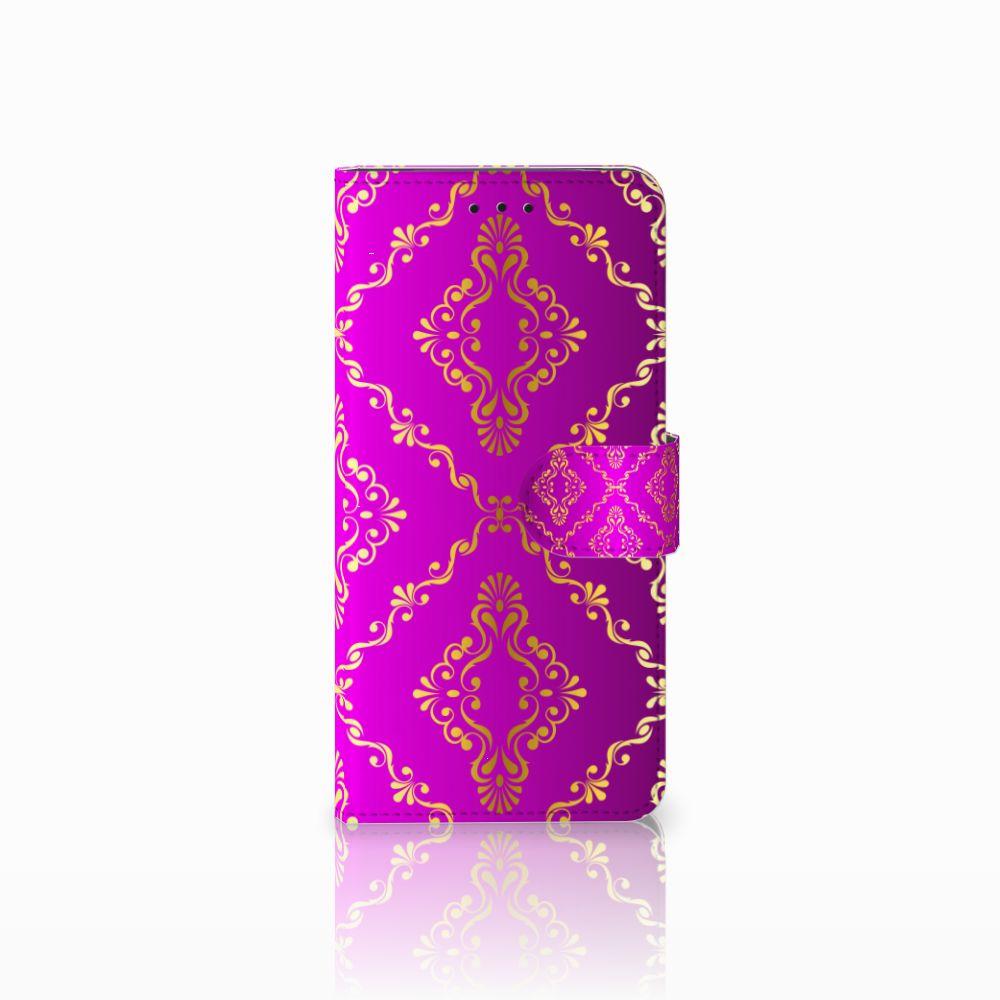 Motorola Moto E5 Uniek Boekhoesje Barok Roze