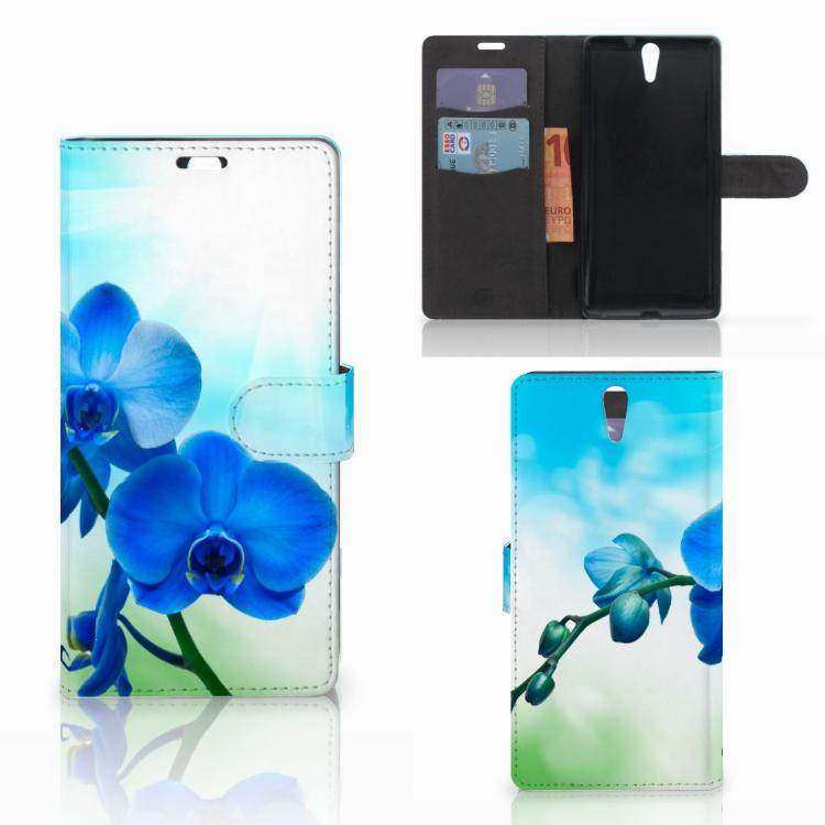 Sony Xperia C5 Ultra Hoesje Orchidee Blauw