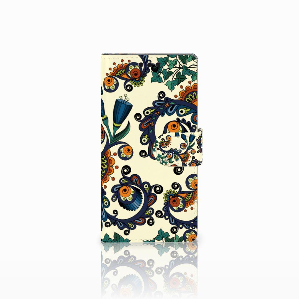 Sony Xperia M4 Aqua Boekhoesje Design Barok Flower