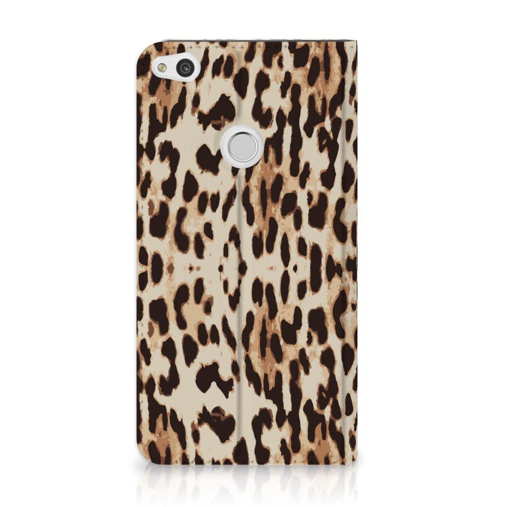 Huawei P8 Lite 2017 Uniek Standcase Hoesje Leopard